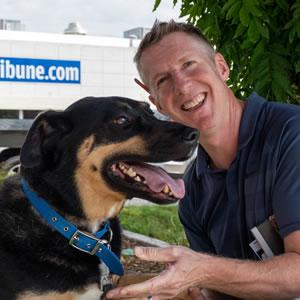 Nathan Alford and his dog